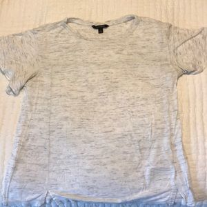 Banana Rep: Flutter Sleeve Grey Marbled Tee size S